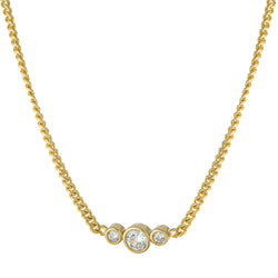Gold CZ Mini Cuban Link Necklace