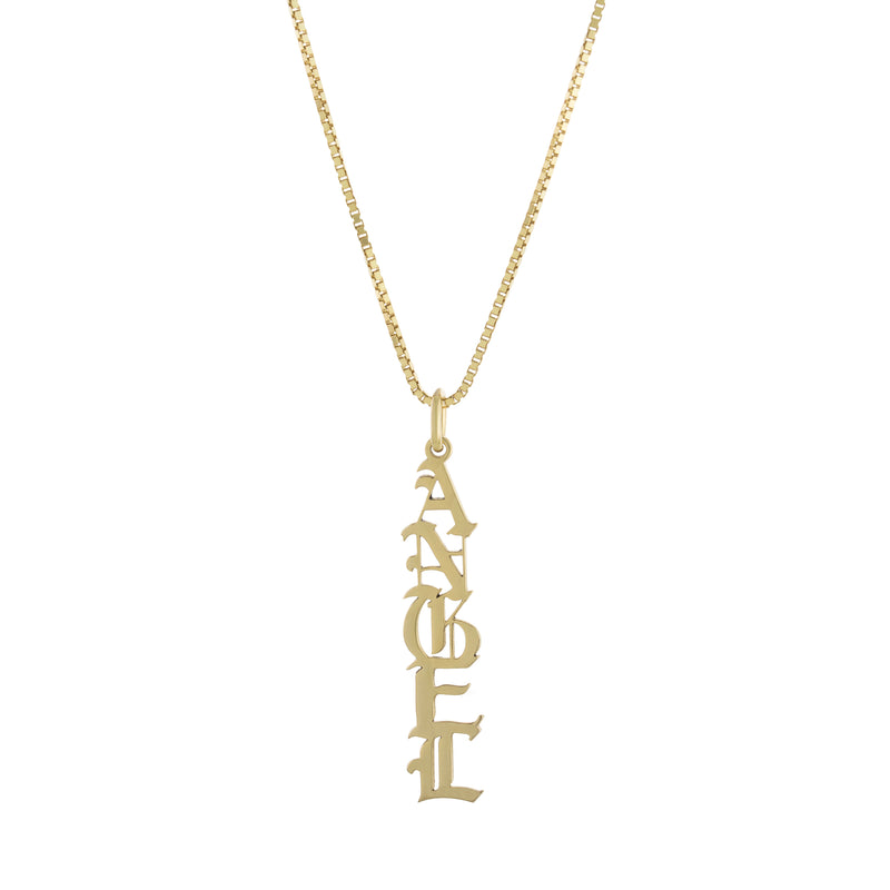 The Gold English Drop Necklace