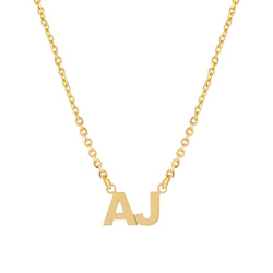 Gold Double Initial Necklace