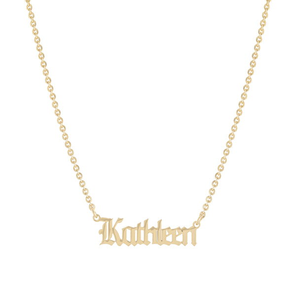 Gold Old English Personalized Necklace