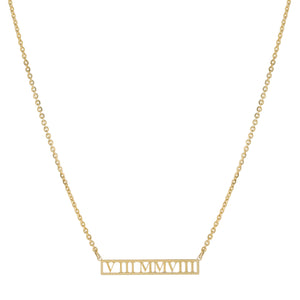Gold Roman Cut Out Necklace