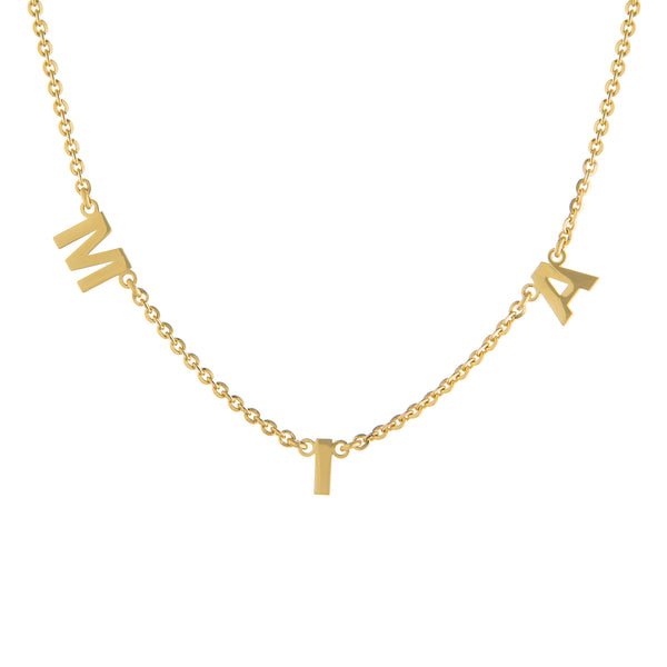 The  Gold Three Letter Necklace