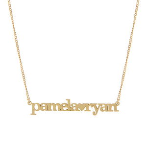 Gold Double Name Necklace
