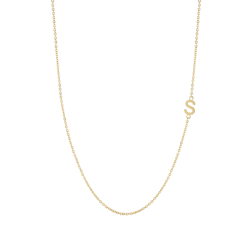The Off Center Initial Necklace