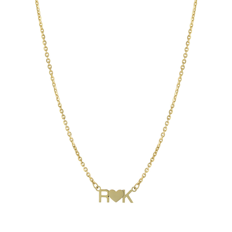 The Gold Initial Heart Necklace