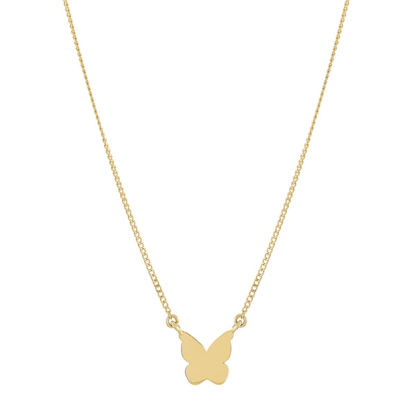 Classic Gold Butterfly Necklace