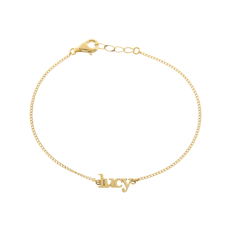 Gold Lowercase Bracelet