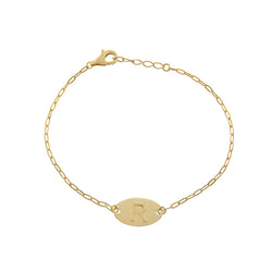 The Gold Raised Initial Bracelet