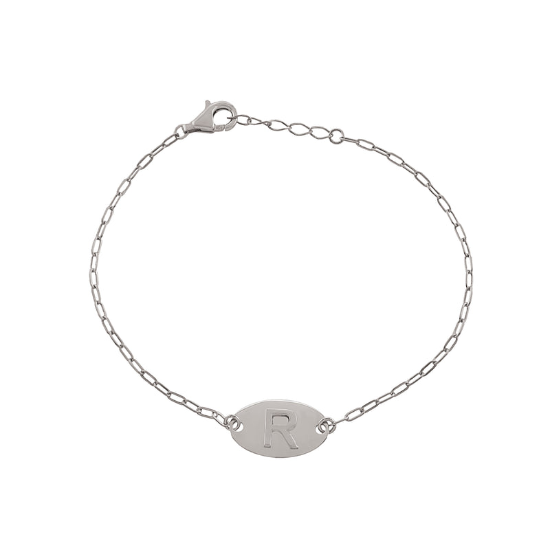 The Raised Initial Bracelet
