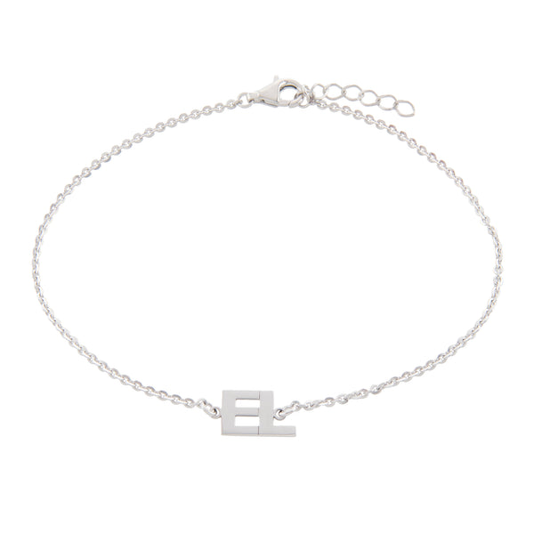 Silver Initial Anklet