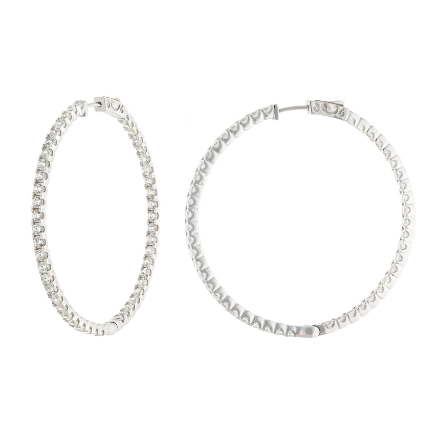 Large Lila Hoops