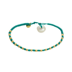 Green Cotton Bracelet