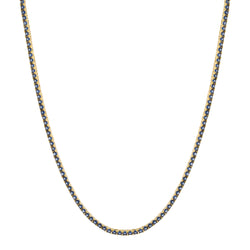 Indigo Tennis Necklace