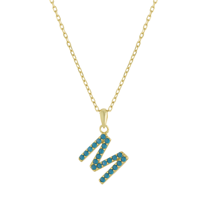 Turquoise Initial