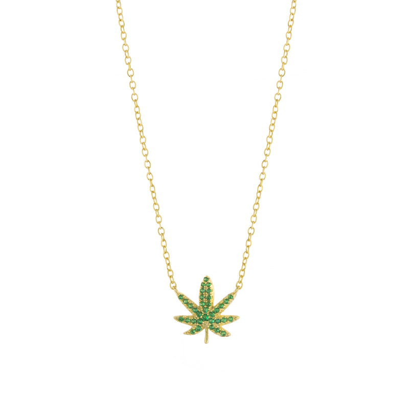 Green Cannabis Necklace