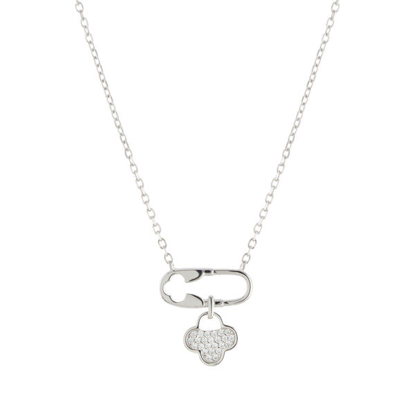Drop Clover Necklace