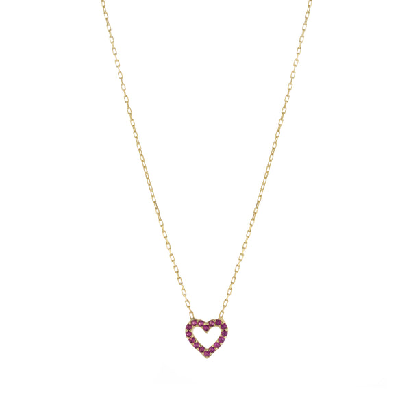 The Pink Heart Necklace