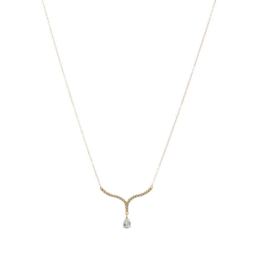 Gold Anastasia Curve Necklace