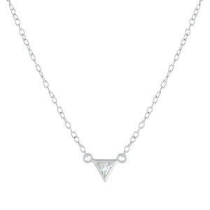 Sterling Silver Petite Triangle Necklace