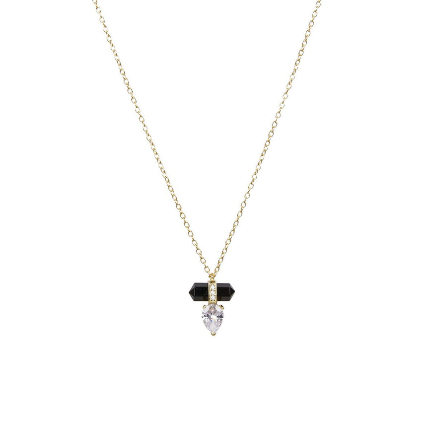 Black Onyx Prism Necklace