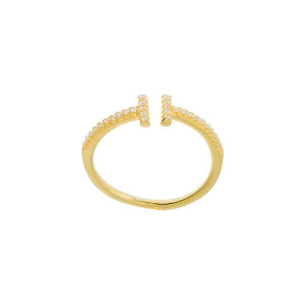 Gold Open T Ring