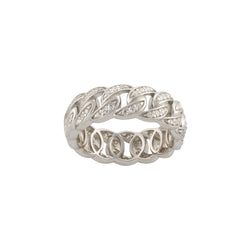 Silver Cuban Ring