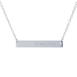 BESTIES Bar Necklace