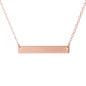 SISTERS Bar Necklace