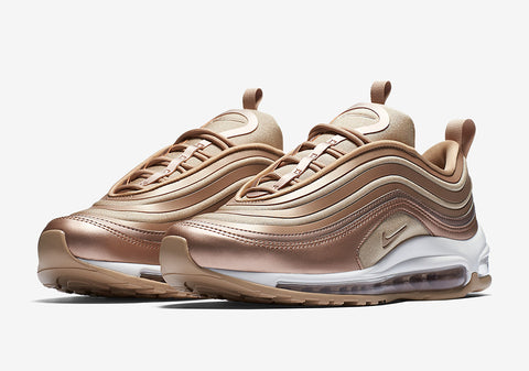"6d7f989288dc6d The Nike Air Max 97 ""Silver Bullet"" was followed by another classic  colorway in the Nike Air Max 97 ""Metallic Gold"". Now finishing third never  looked so ..."