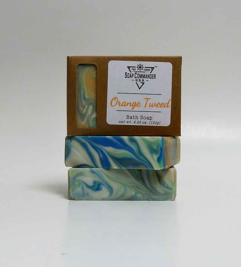 Orange Tweed Bath Soap