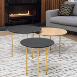 Saxe nesting table set - Torched & White