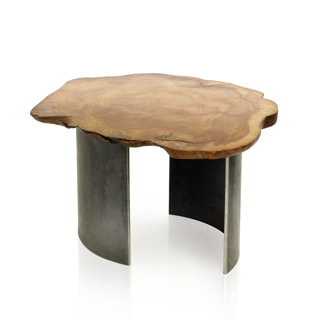 1970 Table Contemporary Metal And Wood Coffee Table Autonomous
