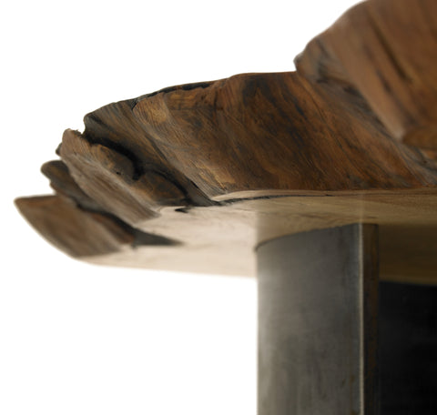 1970 table - Contemporary Metal and Wood Coffee table