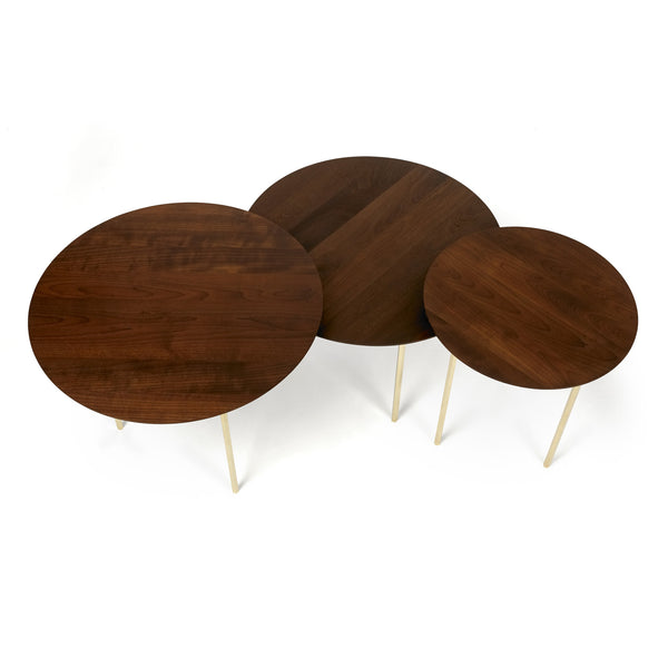 Saxe nesting table set - Roasted maple