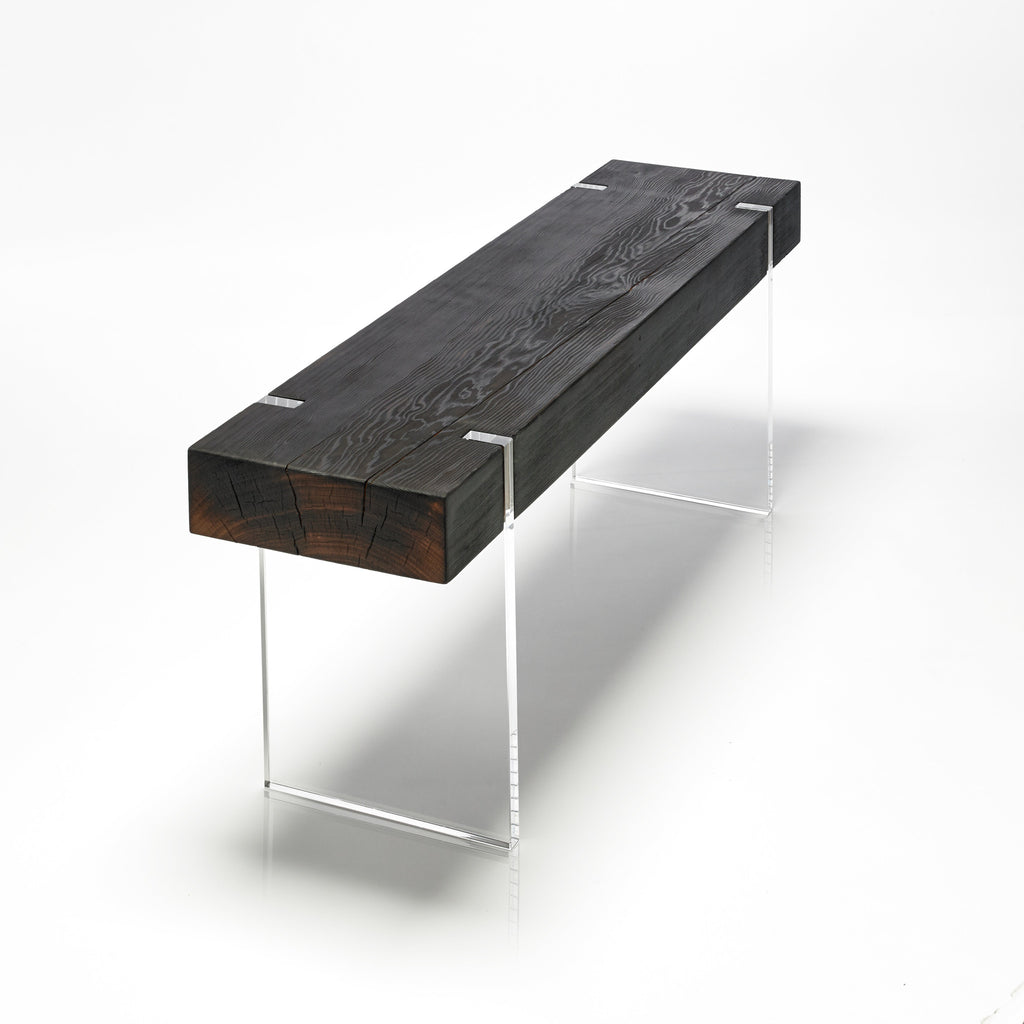 tillikum bench torched modern acrylic bench - Acrylic Bench