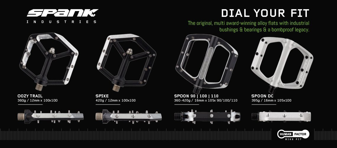 dial your fit with spank pedals