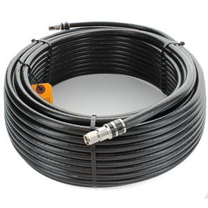 100 ft. Black RG11 Low Loss Coax (F Male to F Male) Image