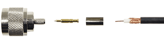 N Male Crimp Connector