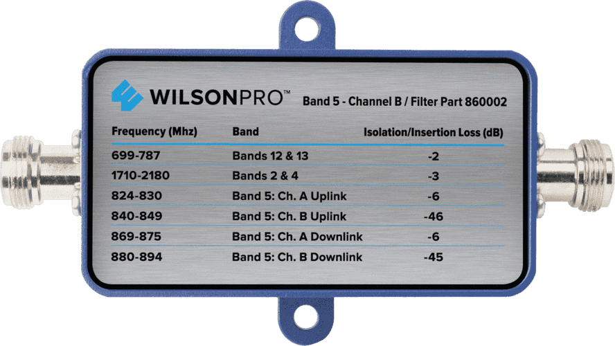 Band 5 Channel B Filter (F Connector) Image | weBoost cell phone signal booster