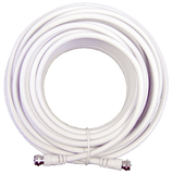 20 ft. White RG6 Low Loss Coax (F Male to F Male)