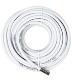 15 ft. White RG6 Cable F-Male