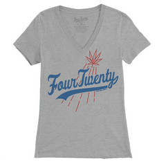Four Twenty Brooklyn Women's White V-neck