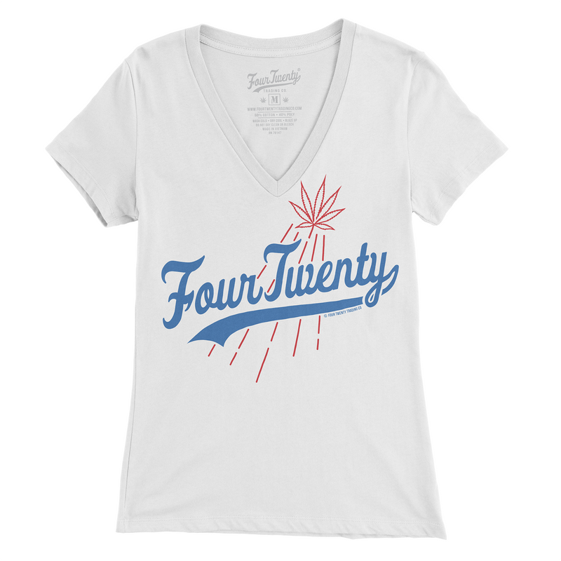 Brooklyn Women's White V-neck