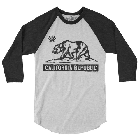 Four Twenty Cali Love White Heather Raglan