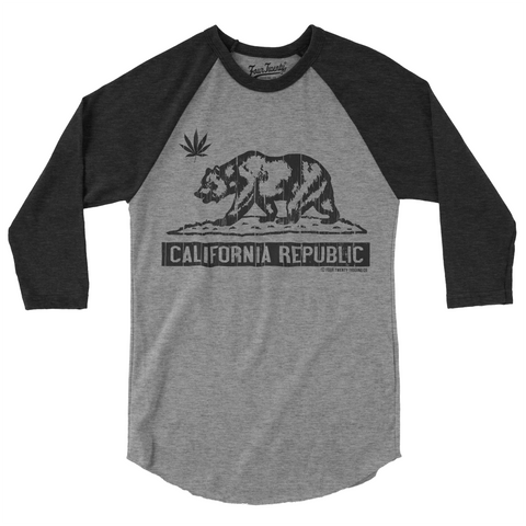 Four Twenty Cali Love Gray Heather Raglan