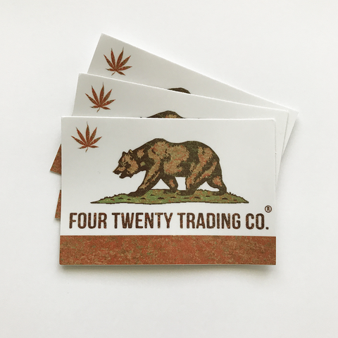 The Cali Slap Weed Sticker