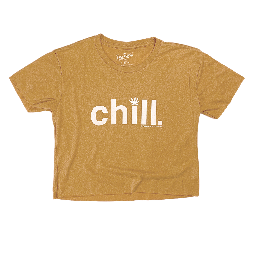 Chill Women's Vintage Gold Croptop