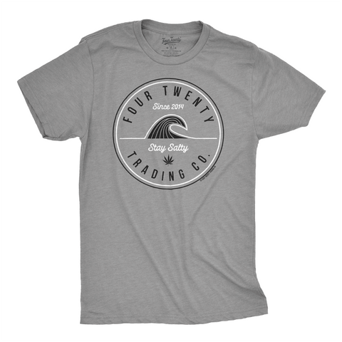 Four Twenty Stay Salty Gray Men's Tee