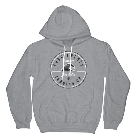 Four Twenty Stay Salty Gray Hoodie