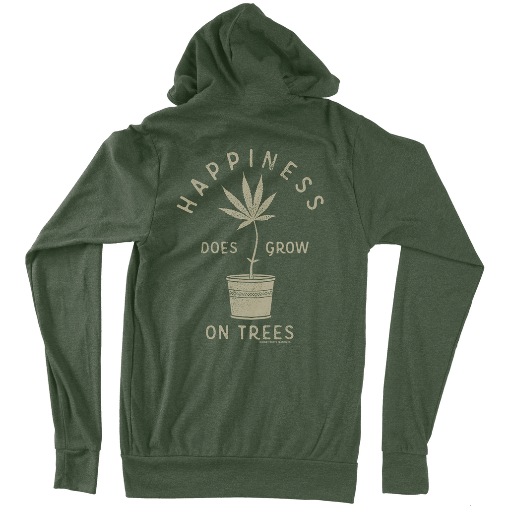 Happy Tree Vintage Green Hoodie